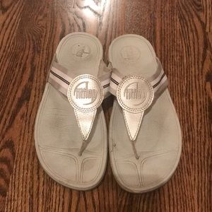 Fit flop silver/grey size 8
